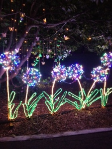 As it was in a garden, flowers made of lights were kind of obligatory, I guess :)