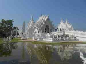 The White Temple glittering in the sun.